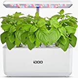 iDOO Hydroponics Growing System, Indoor Garden Starter Kit with LED Grow Light, Automatic Timer Germination Kit, Height Adjustable (7 Pods)